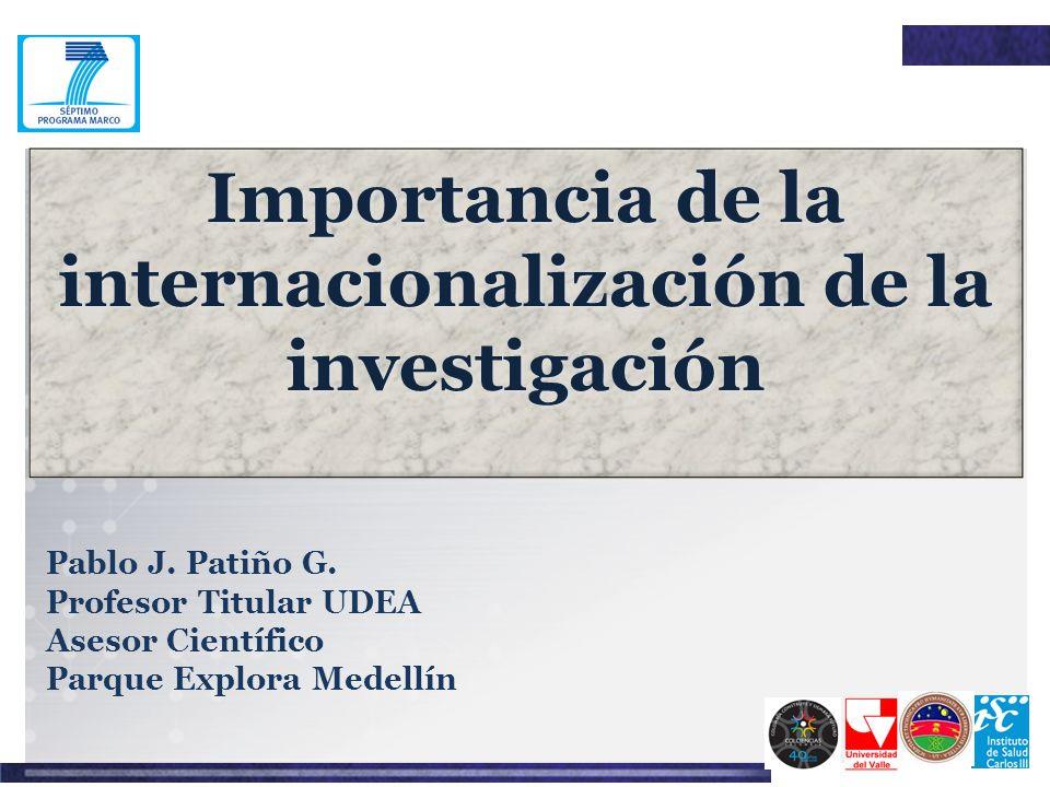 Importancia de la internacionalización de la investigación