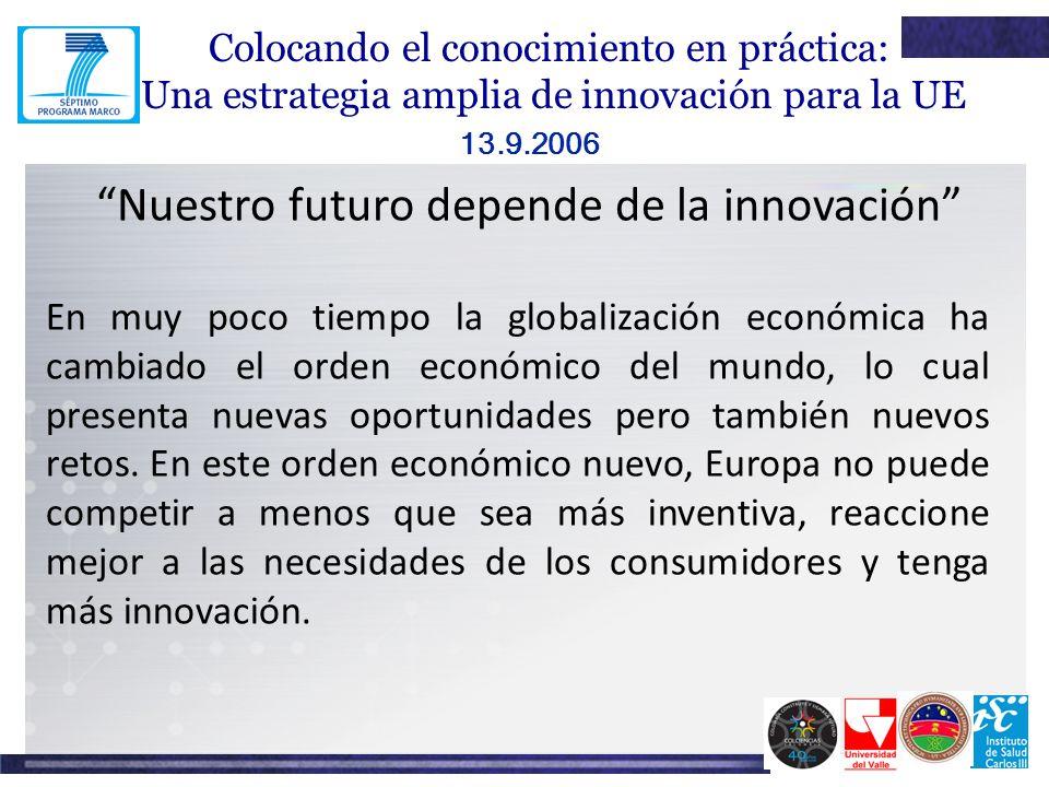 Nuestro futuro depende de la innovación