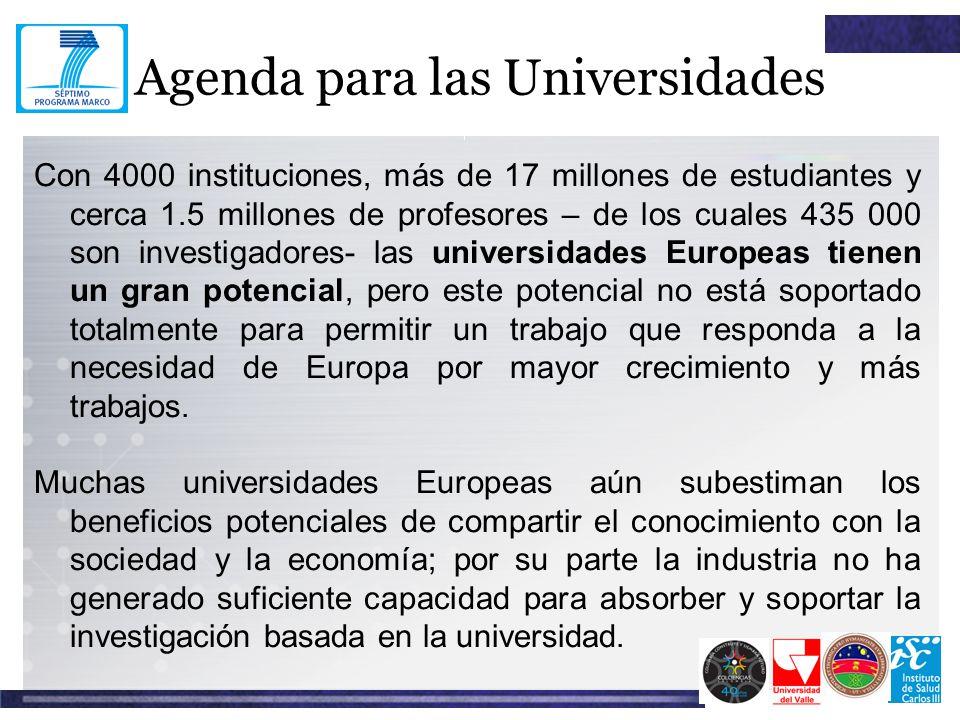 Agenda para las Universidades