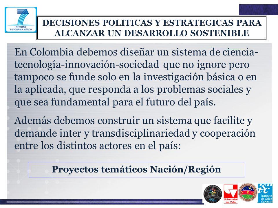 Proyectos temáticos Nación/Región