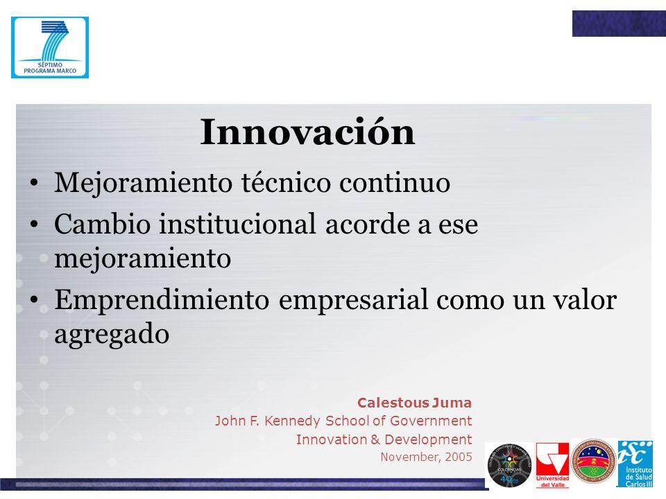 Innovación Mejoramiento técnico continuo
