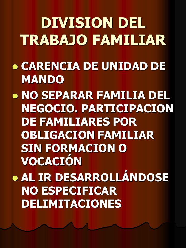 DIVISION DEL TRABAJO FAMILIAR