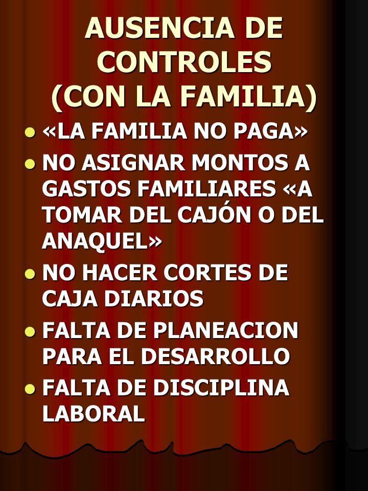AUSENCIA DE CONTROLES (CON LA FAMILIA)