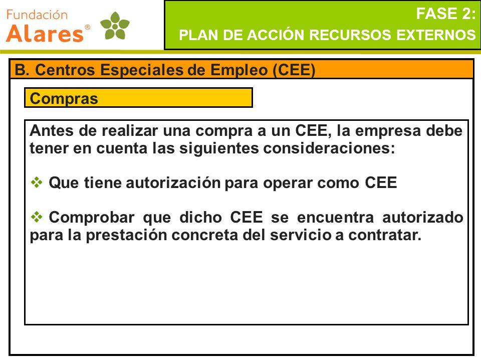 B. Centros Especiales de Empleo (CEE)
