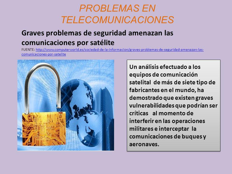 PROBLEMAS EN TELECOMUNICACIONES