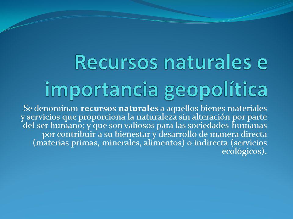Recursos naturales e importancia geopolítica