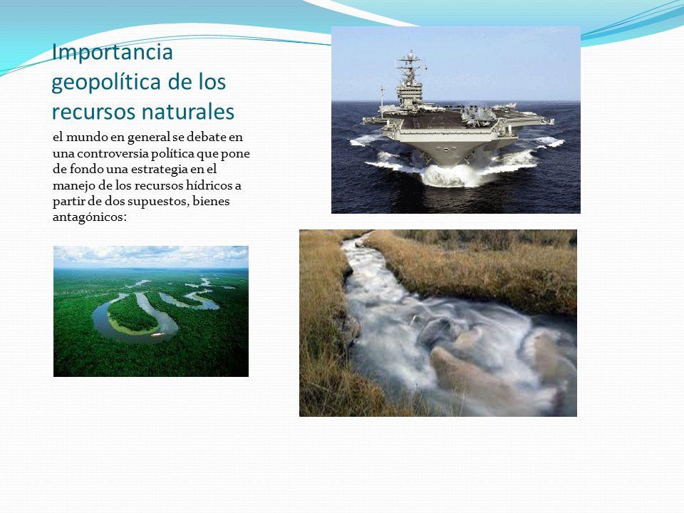 Importancia geopolítica de los recursos naturales