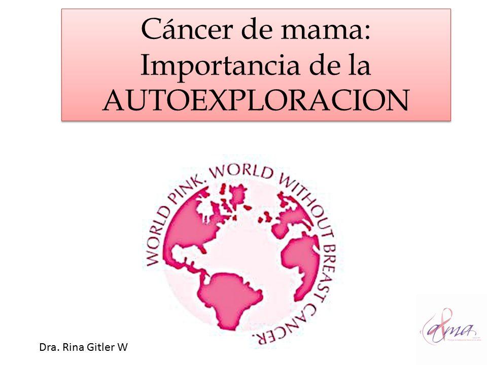 Cáncer de mama: Importancia de la AUTOEXPLORACION
