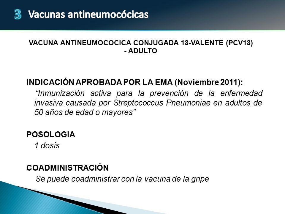 Vacuna antineumocOcica conjugada 13-valente (PCV13) - adulto