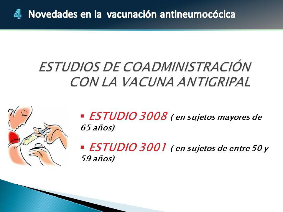 ESTUDIOS DE COADMINISTRACIÓN CON LA VACUNA ANTIGRIPAL
