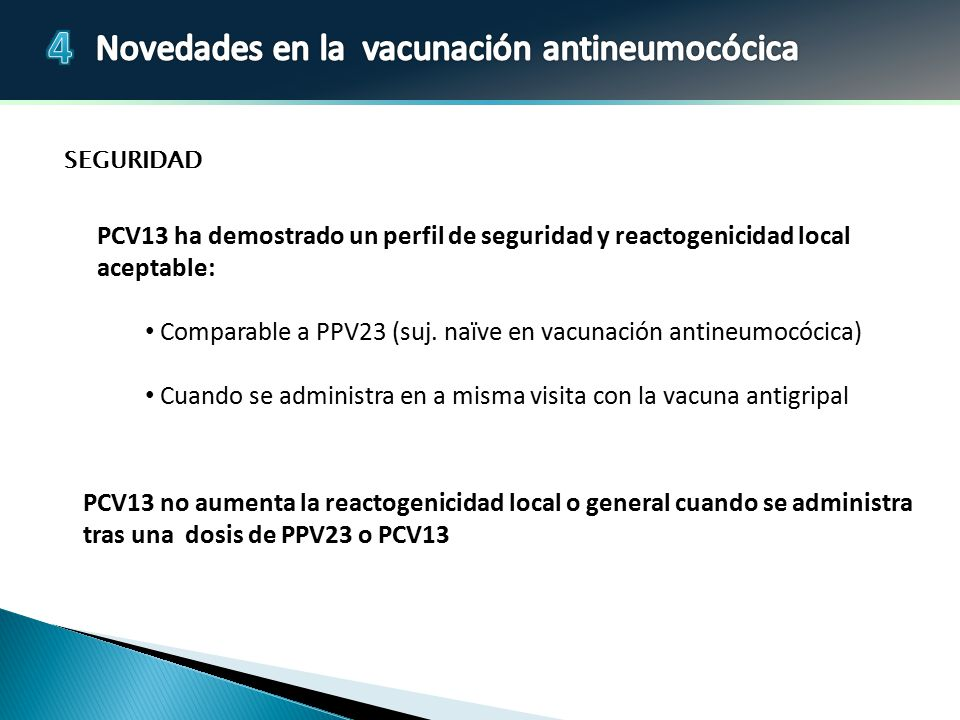 Comparable a PPV23 (suj. naïve en vacunación antineumocócica)