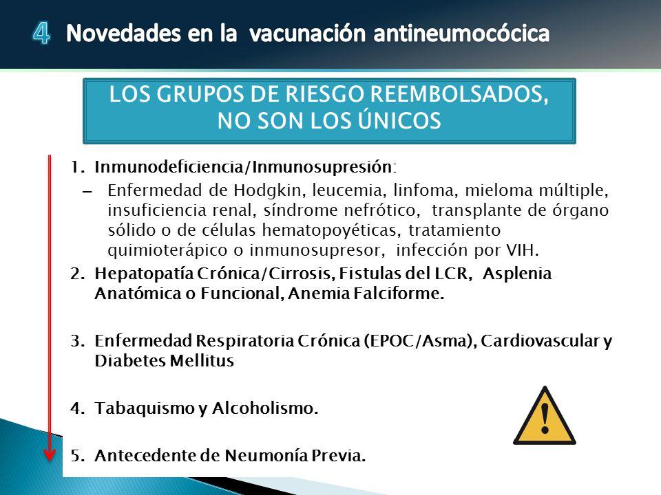 LOS GRUPOS DE RIESGO REEMBOLSADOS,