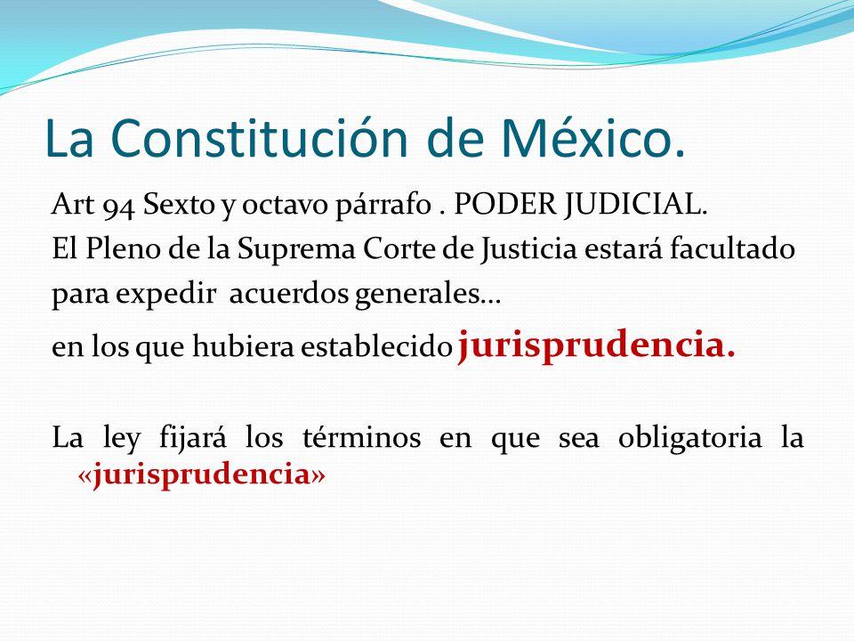 La Constitución de México.