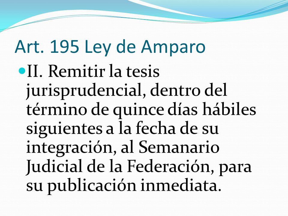Art. 195 Ley de Amparo