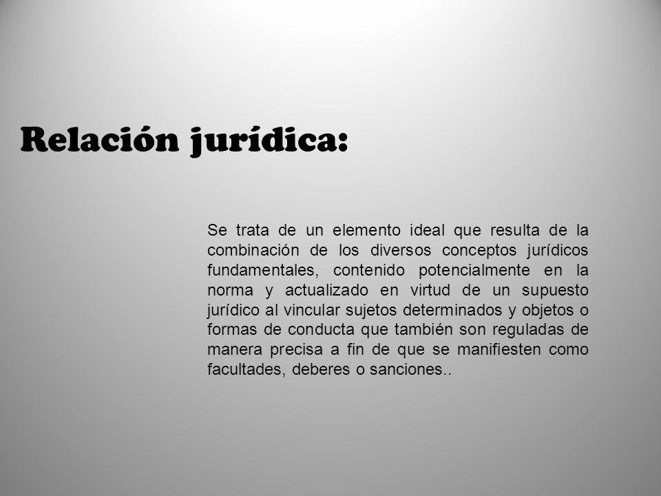 Relación jurídica:
