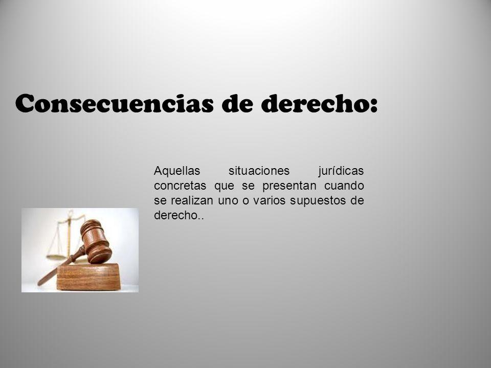 Consecuencias de derecho: