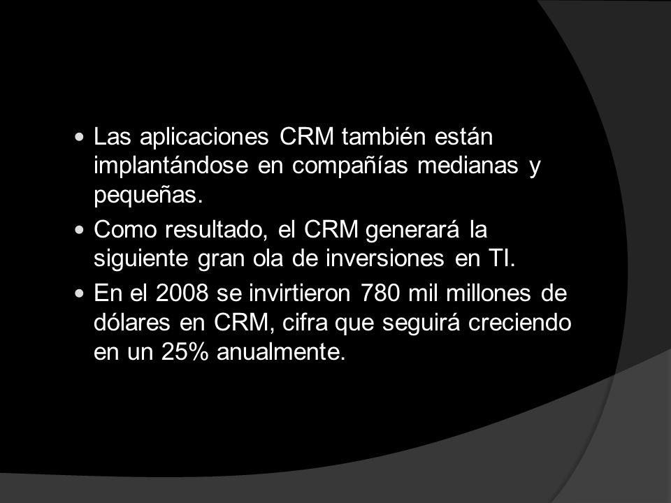 Las aplicaciones CRM también están implantándose en compañías medianas y pequeñas.