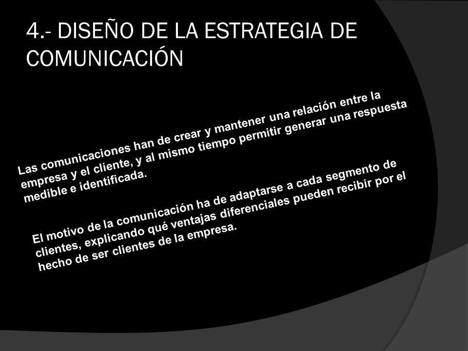 4.- DISEÑO DE LA ESTRATEGIA DE COMUNICACIÓN