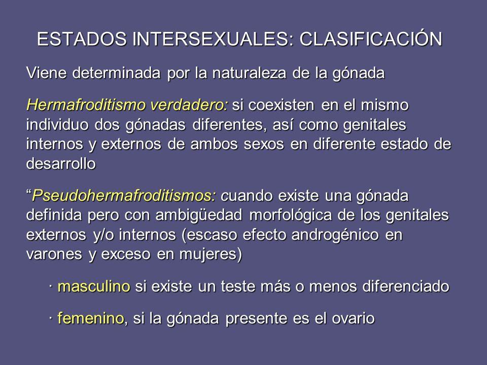 ESTADOS INTERSEXUALES: CLASIFICACIÓN