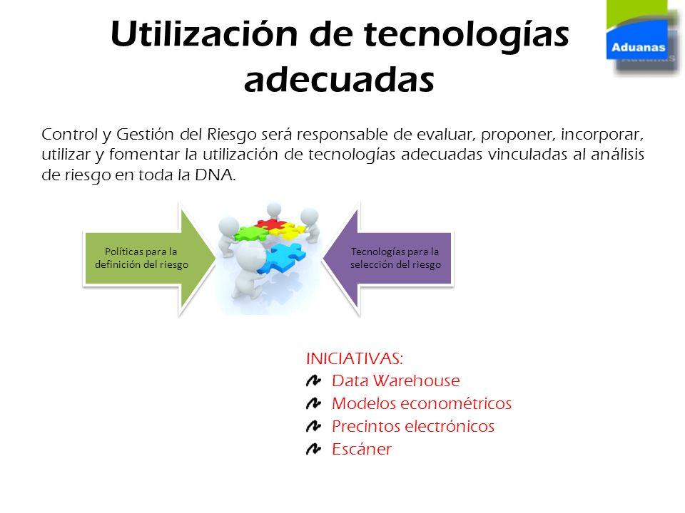 Utilización de tecnologías adecuadas