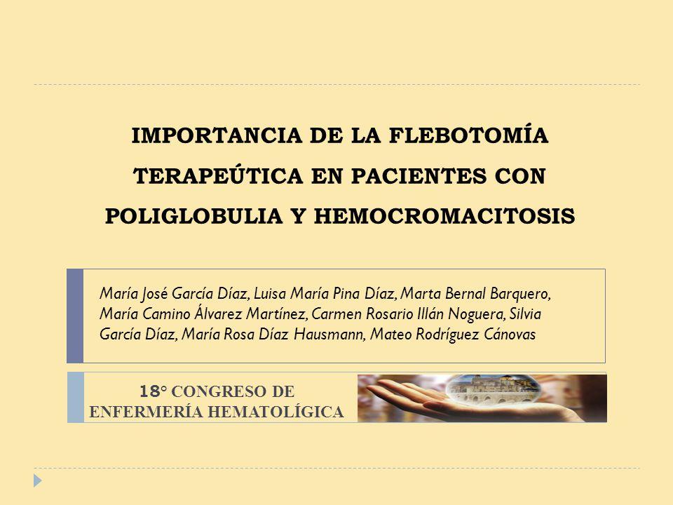 18° CONGRESO DE ENFERMERÍA HEMATOLÍGICA