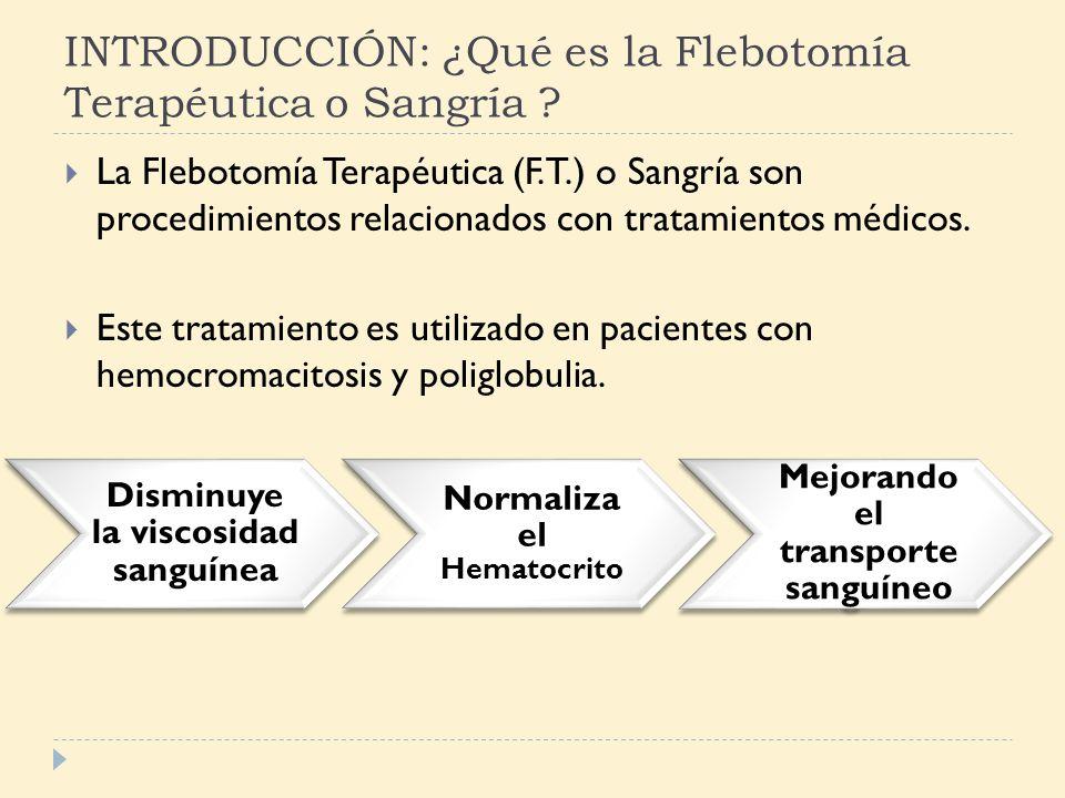 INTRODUCCIÓN: ¿Qué es la Flebotomía Terapéutica o Sangría