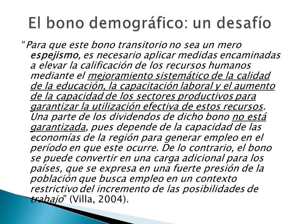 El bono demográfico: un desafío