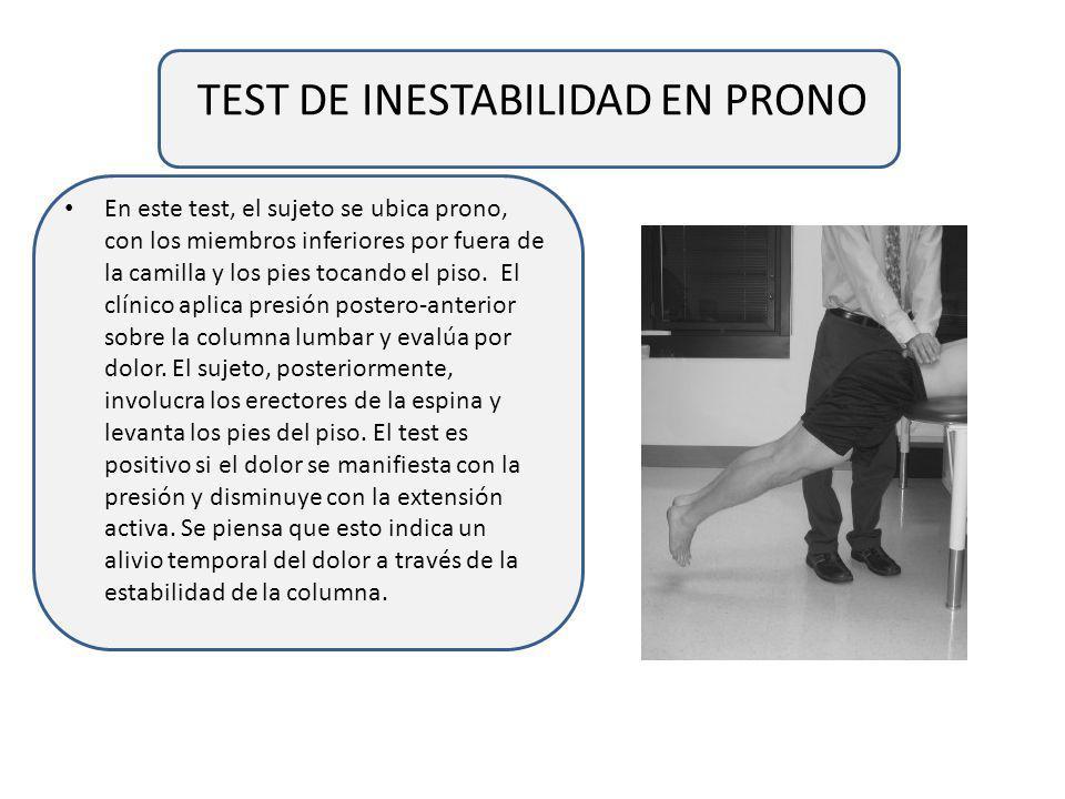 TEST DE INESTABILIDAD EN PRONO