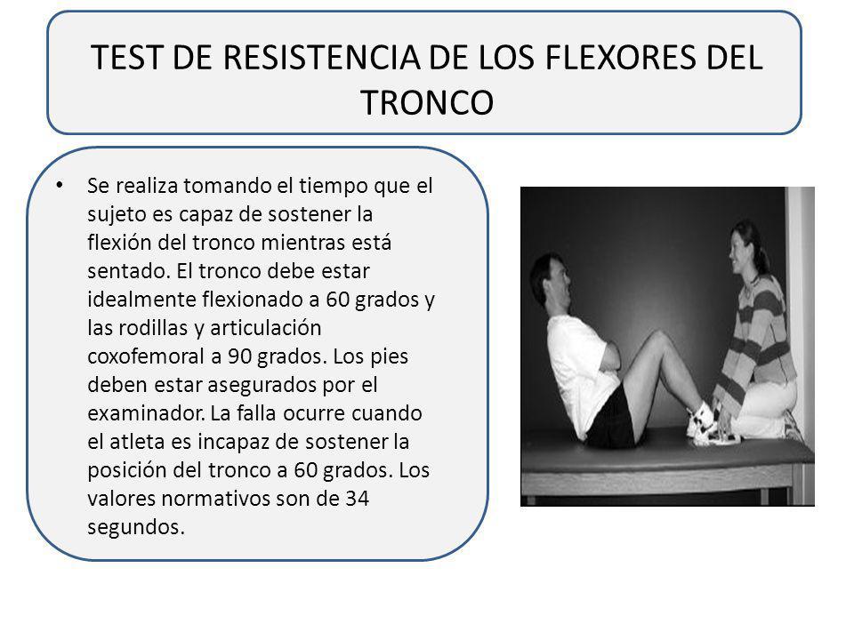 TEST DE RESISTENCIA DE LOS FLEXORES DEL TRONCO
