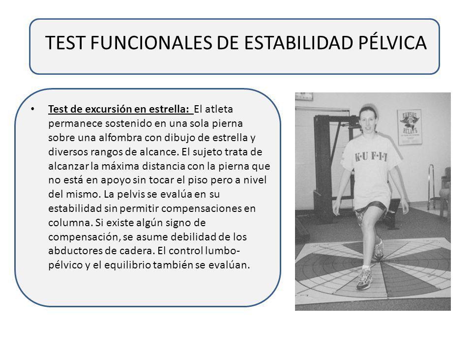 TEST FUNCIONALES DE ESTABILIDAD PÉLVICA