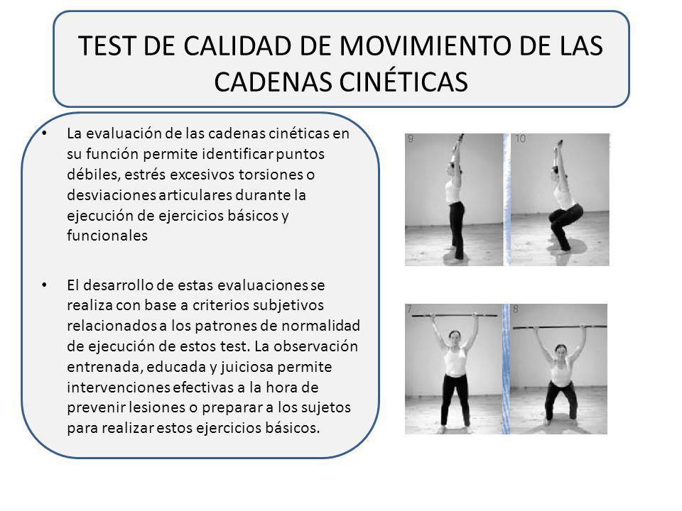 TEST DE CALIDAD DE MOVIMIENTO DE LAS CADENAS CINÉTICAS