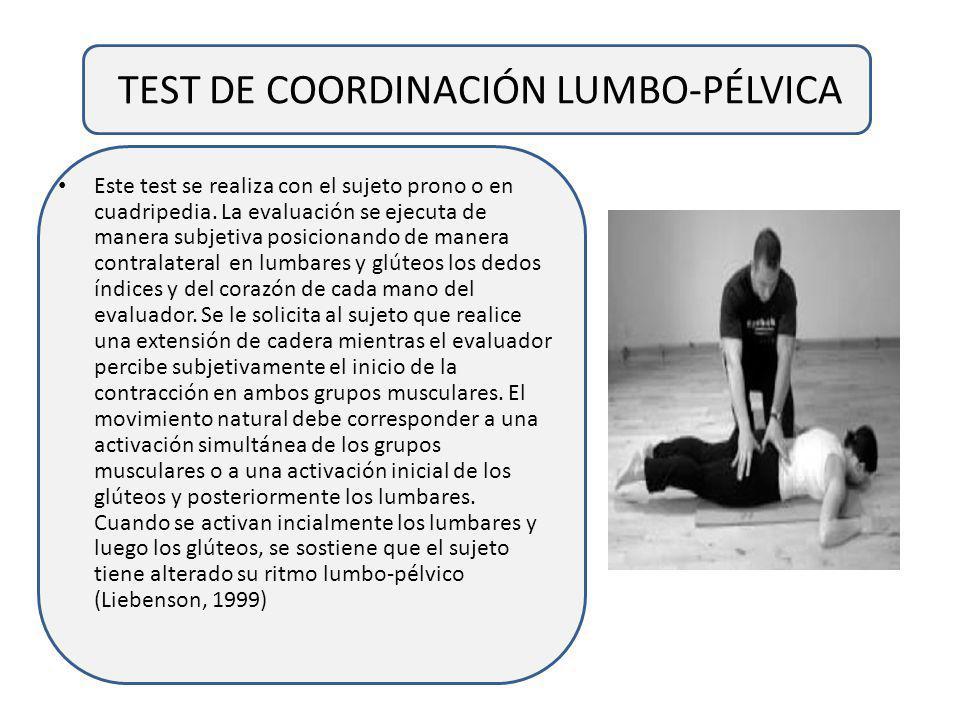 TEST DE COORDINACIÓN LUMBO-PÉLVICA