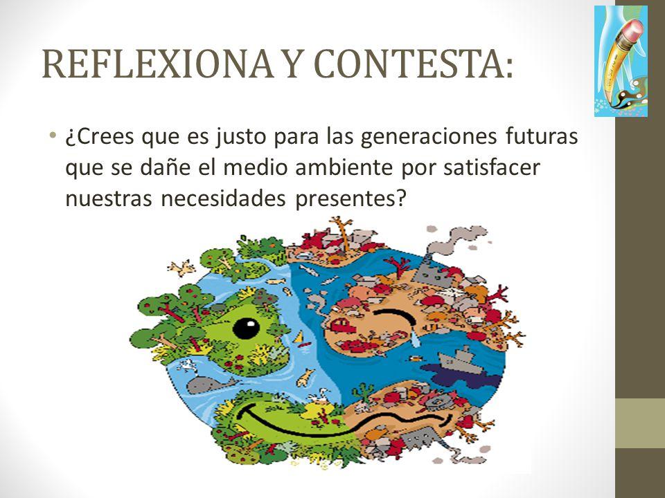 REFLEXIONA Y CONTESTA: