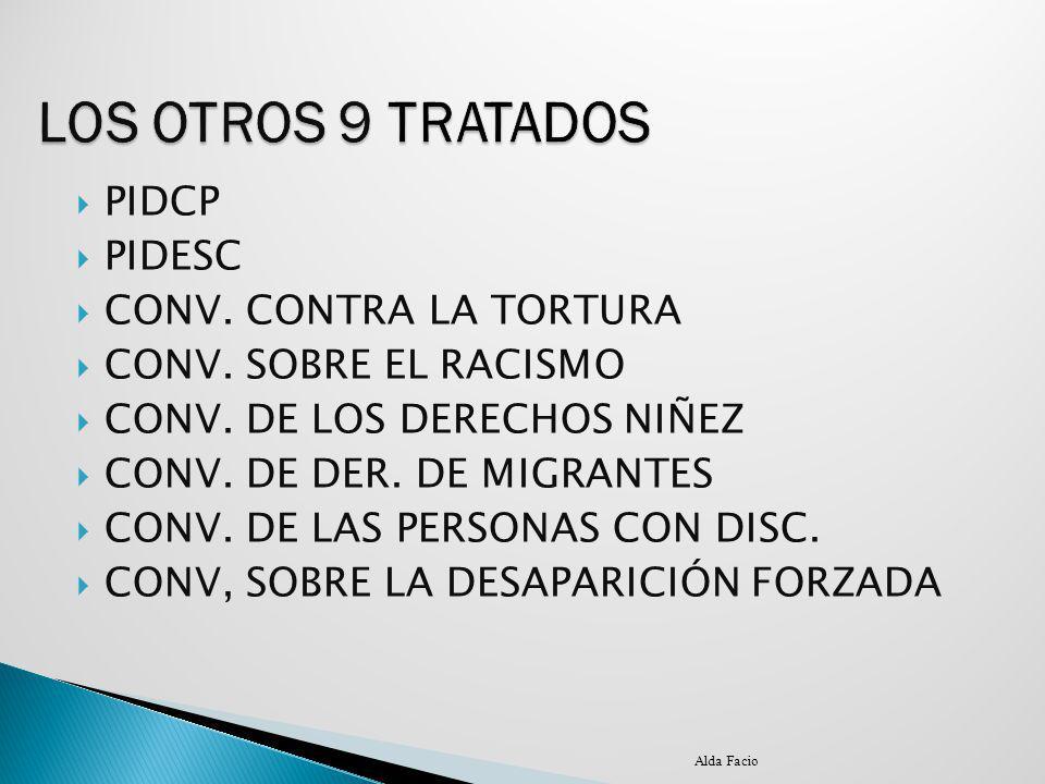 LOS OTROS 9 TRATADOS PIDCP PIDESC CONV. CONTRA LA TORTURA