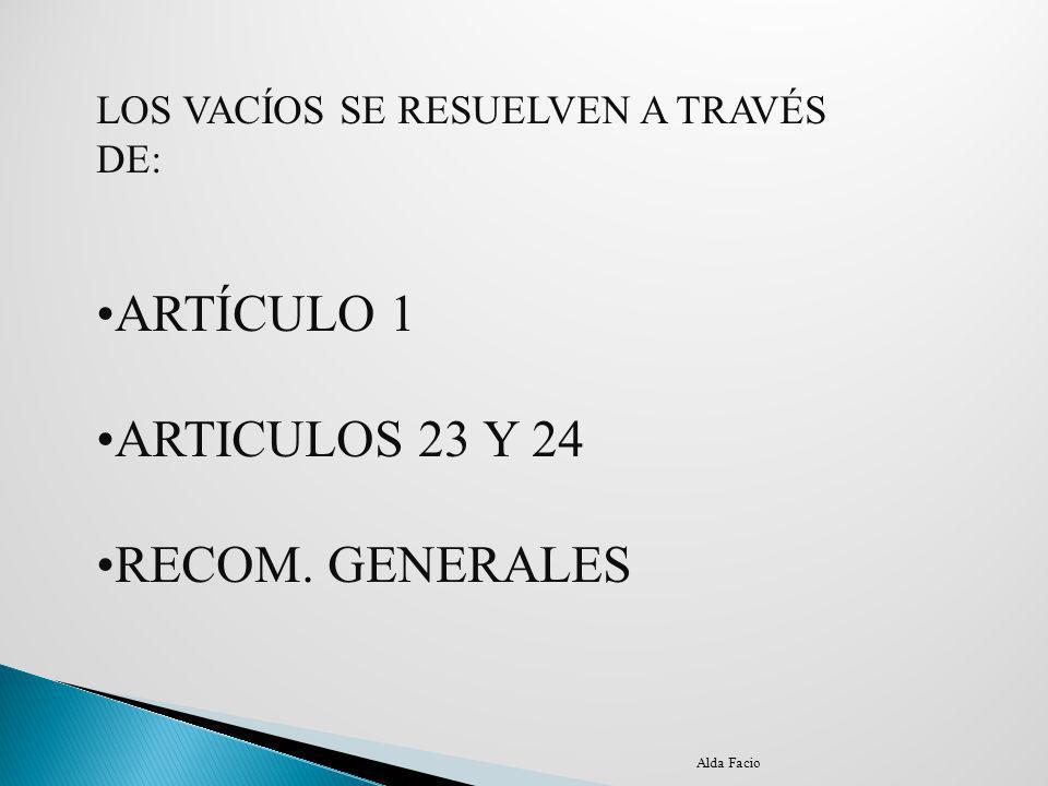 ARTÍCULO 1 ARTICULOS 23 Y 24 RECOM. GENERALES
