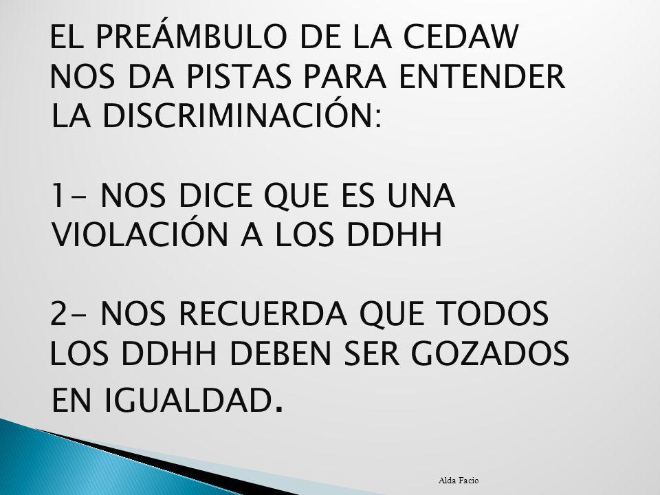 EL PREÁMBULO DE LA CEDAW