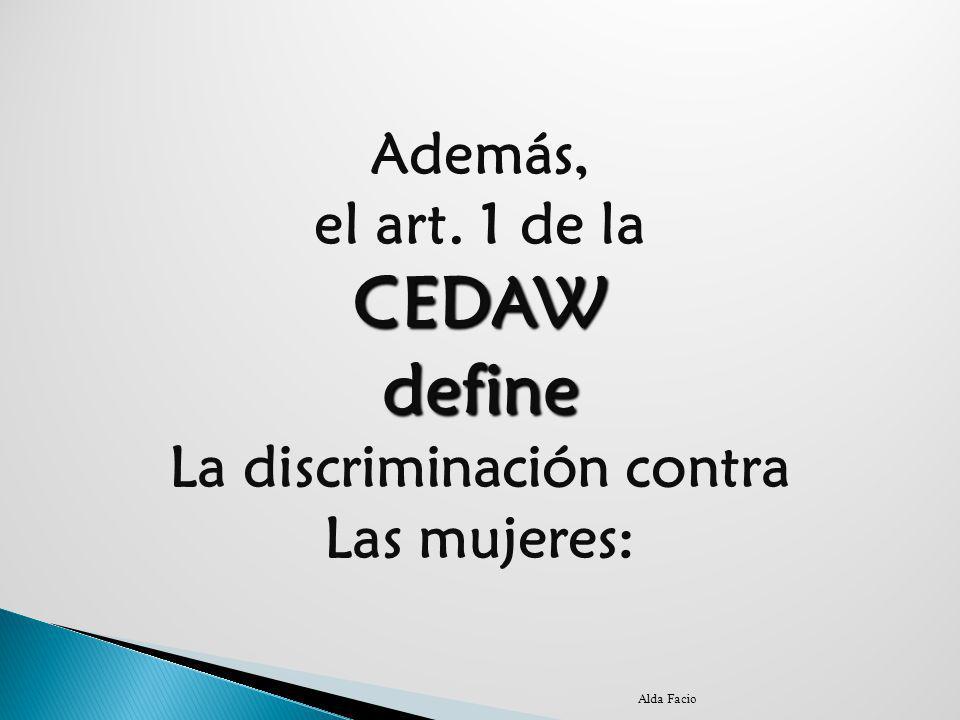 La discriminación contra