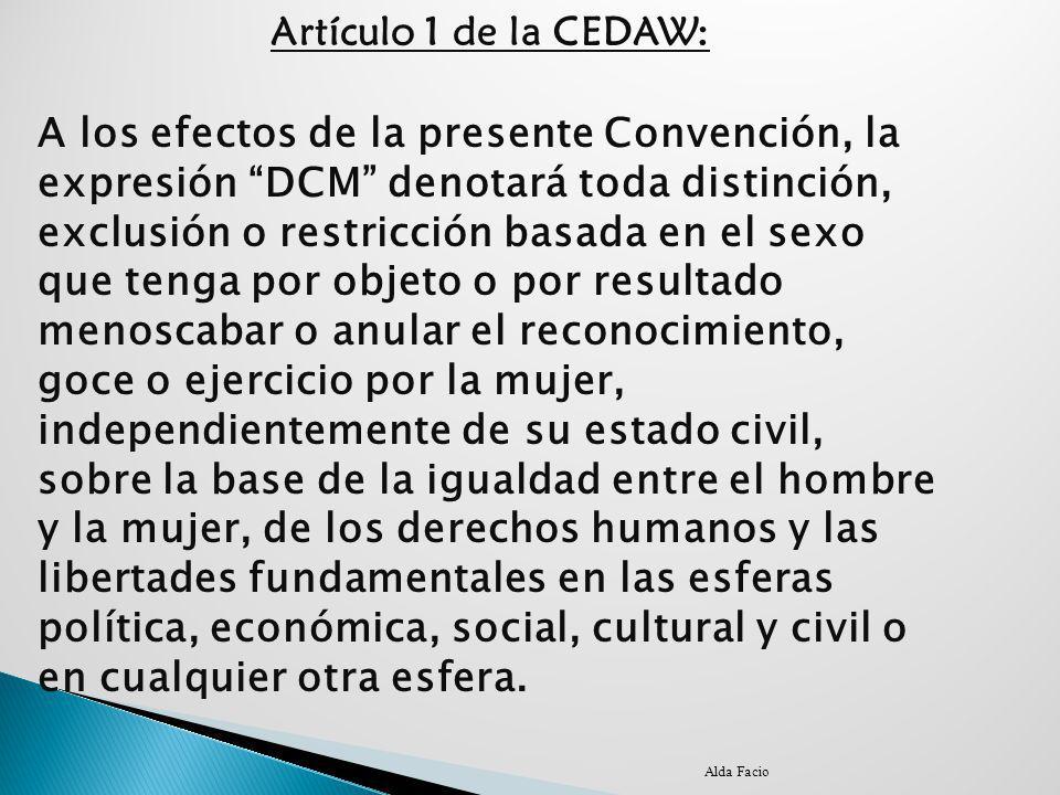 Artículo 1 de la CEDAW: