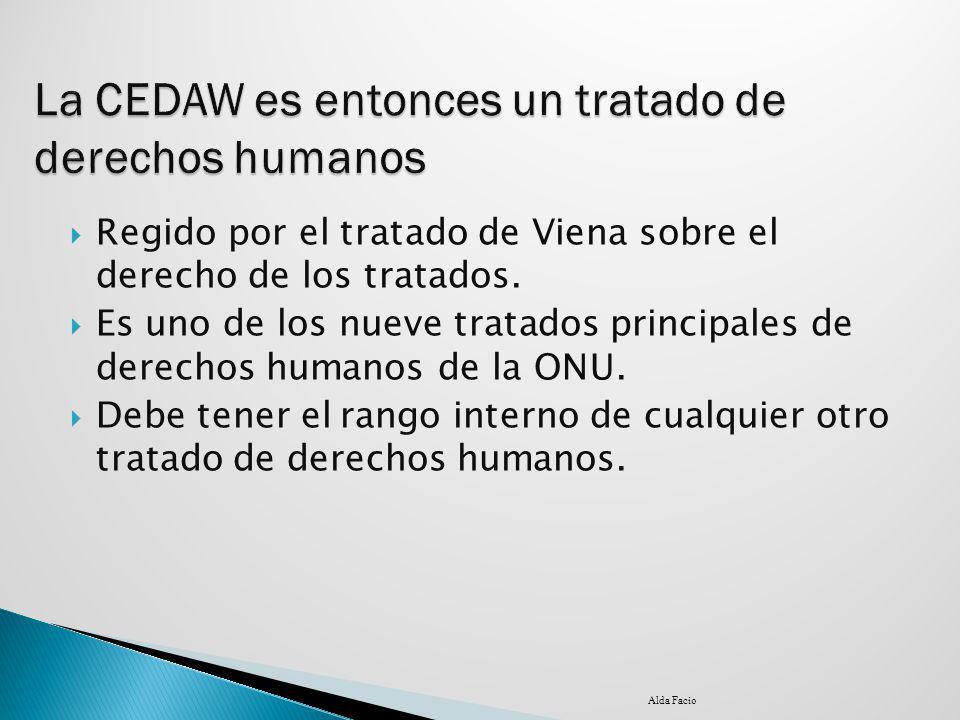 La CEDAW es entonces un tratado de derechos humanos