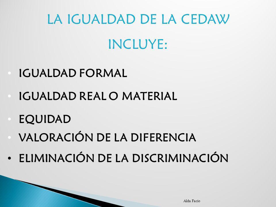 LA IGUALDAD DE LA CEDAW INCLUYE: IGUALDAD FORMAL