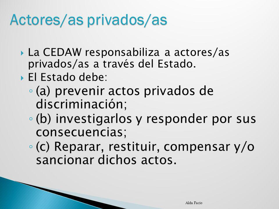 Actores/as privados/as