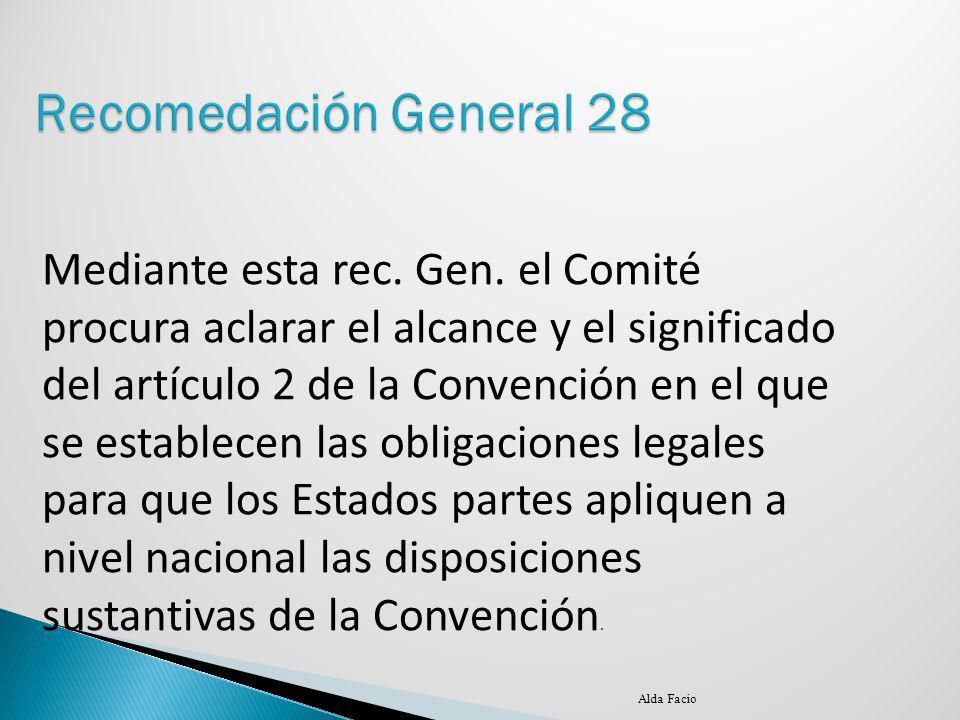 Recomedación General 28