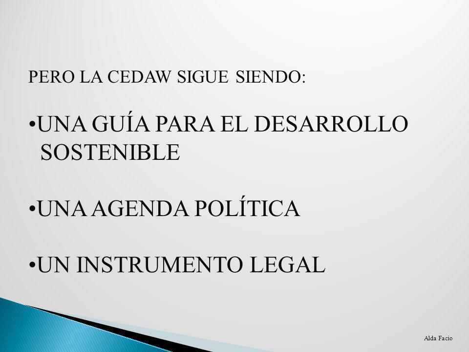 UNA GUÍA PARA EL DESARROLLO SOSTENIBLE UNA AGENDA POLÍTICA