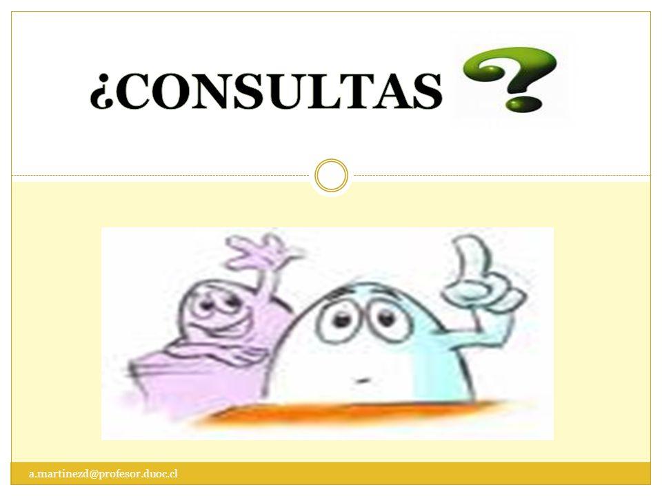 ¿CONSULTAS a.martinezd@profesor.duoc.cl