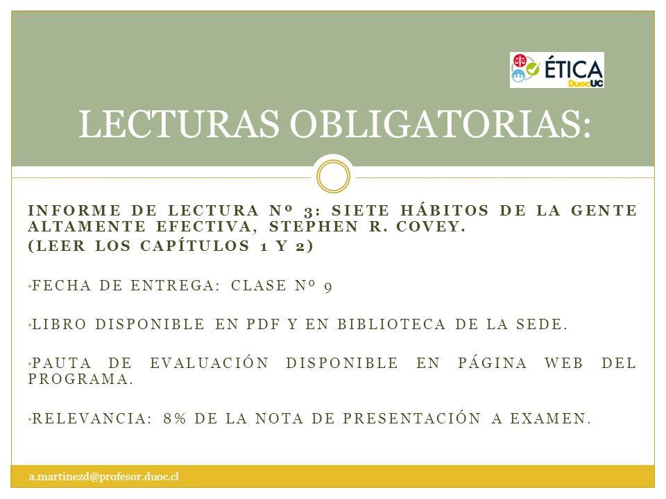 LECTURAS OBLIGATORIAS:
