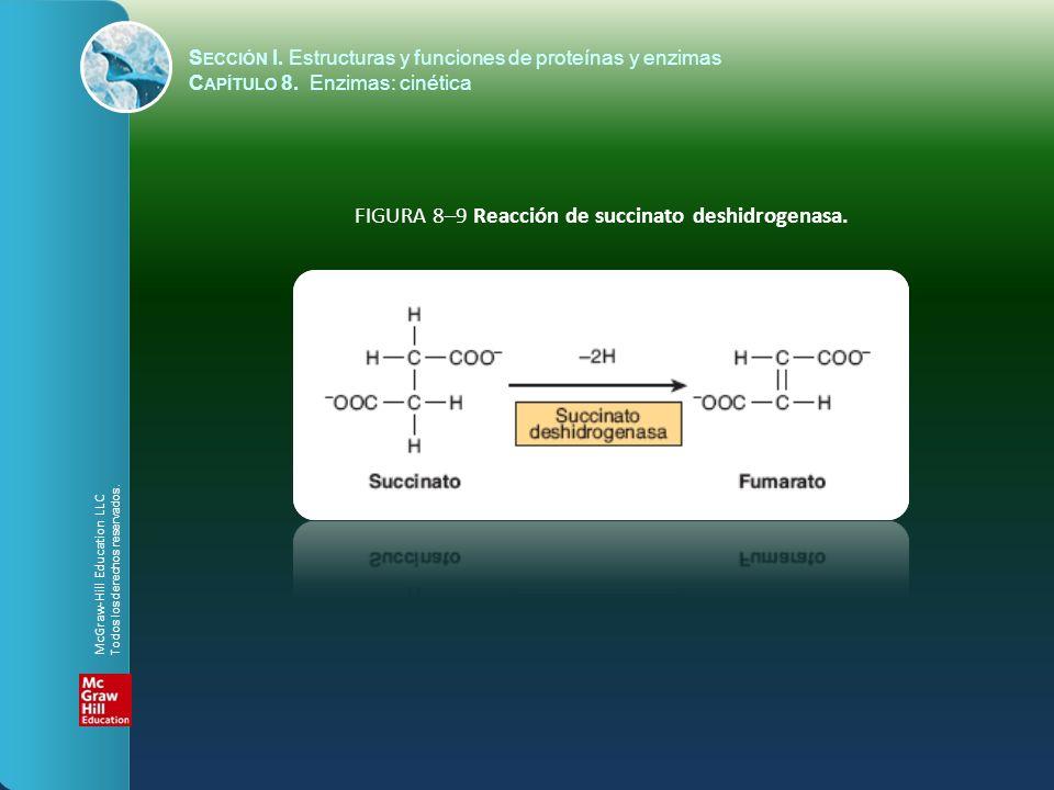 FIGURA 8–9 Reacción de succinato deshidrogenasa.