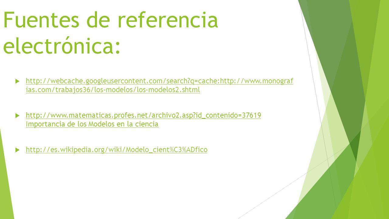 Fuentes de referencia electrónica: