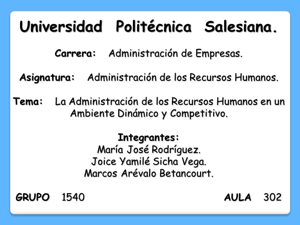 Universidad Politécnica Salesiana.