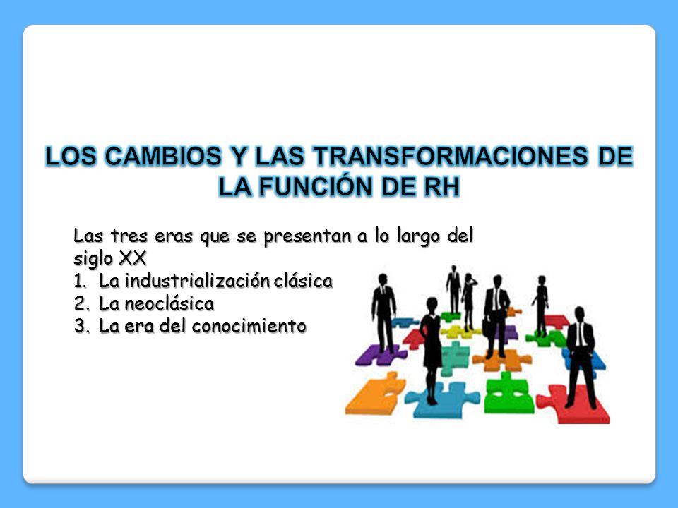 LOS CAMBIOS Y LAS TRANSFORMACIONES DE LA FUNCIÓN DE RH