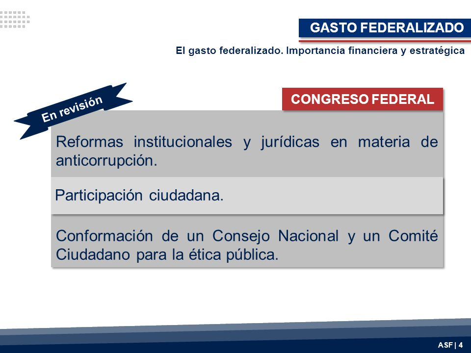 Reformas institucionales y jurídicas en materia de anticorrupción.